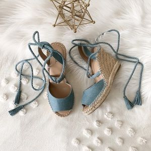 Light Denim Espadrilles